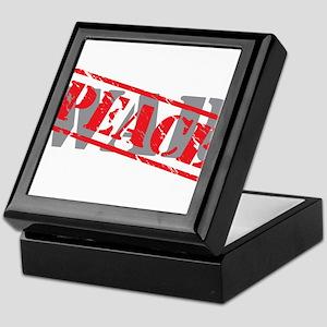 peace-war stamp Keepsake Box