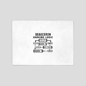 Beauceron Barking Logic ! 5'x7'Area Rug