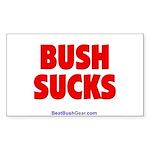 """""""Bush Sucks"""" Rect Sticker (50)"""