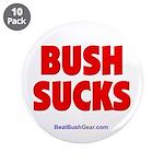 """Bush Sucks"" 3.5"" Button (10)"