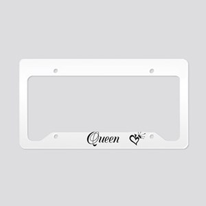Quee Of Spades License Plate Holder