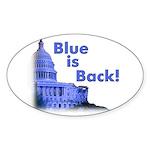 """""""Blue is Back!"""" Oval Sticker (50)"""
