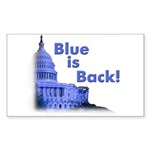 """Blue is Back!"" Rect Sticker (50)"