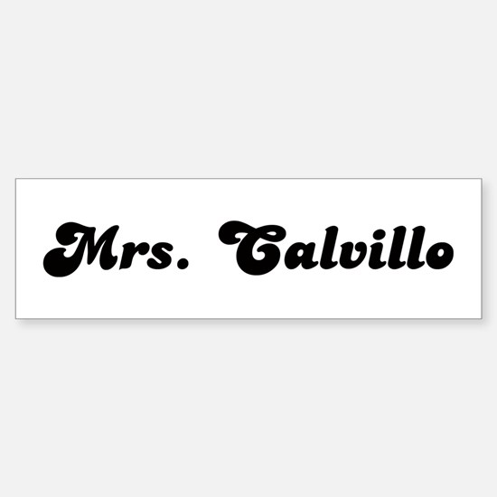 Calvillo Name