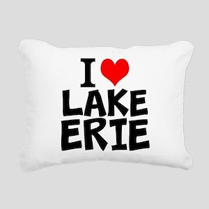 I Love Lake Erie Rectangular Canvas Pillow