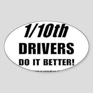 1/10th Oval Sticker