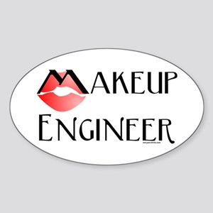 Makeup Engineer Oval Sticker