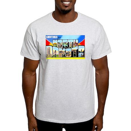 North Dakota Greetings (Front) Light T-Shirt