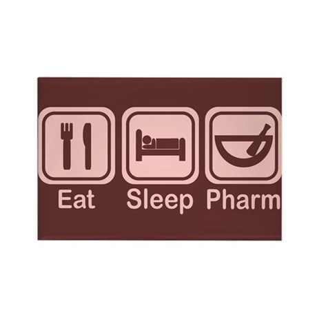 Eat, Sleep, Pharm 2 Rectangle Magnet (100 pack)
