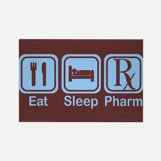 Eat, Sleep, Pharm Rectangle Magnet