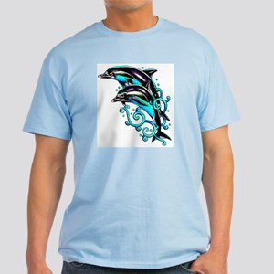 Jumping Dolphins Sea Life Light T-Shirt