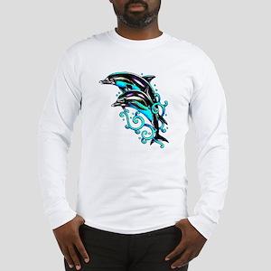Jumping Dolphins Sea Life Long Sleeve T-Shirt