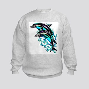 Jumping Dolphins Sea Life Kids Sweatshirt
