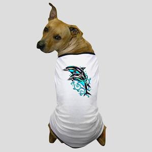 Jumping Dolphins Sea Life Dog T-Shirt