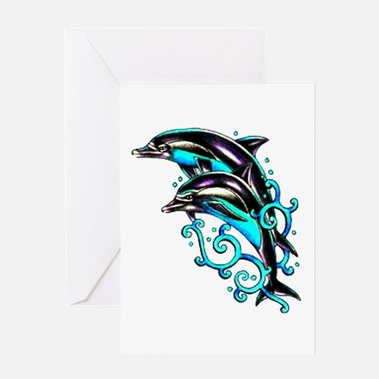 Jumping Dolphins Sea Life Greeting Card