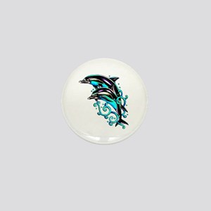 Jumping Dolphins Sea Life Mini Button