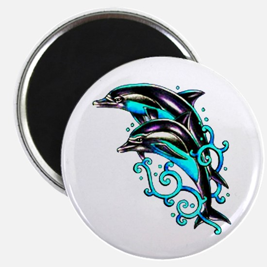 Jumping Dolphins Sea Life Magnet