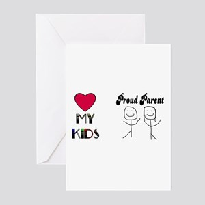 LOVE MY KIDS (PROUD PARENTS) Greeting Cards (Packa