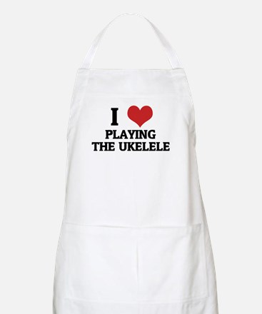 I Love Playing the Ukelele BBQ Apron