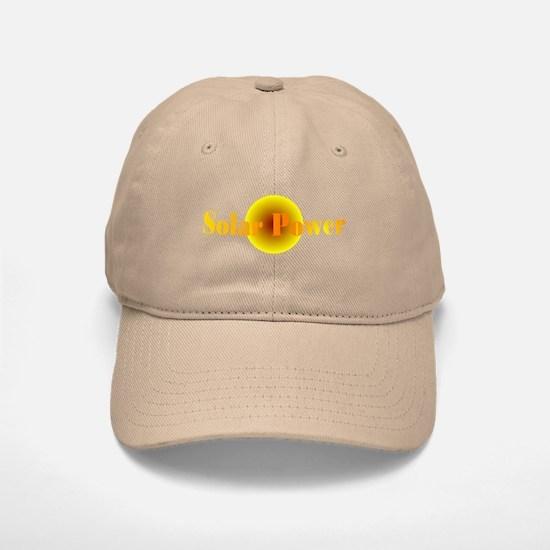 Solar Power Baseball Baseball Cap