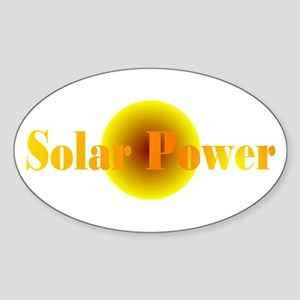 Solar Power Oval Sticker