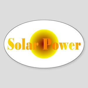 Solar Power Oval Sticker