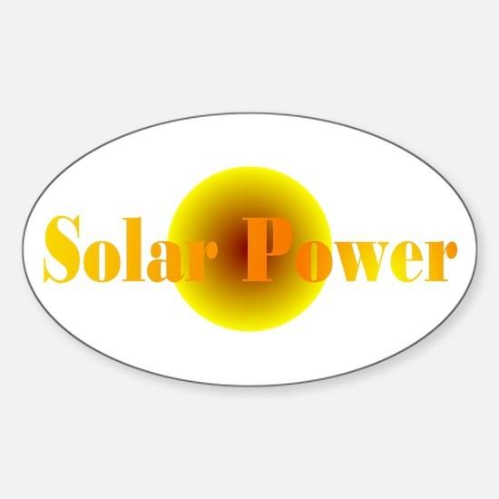 Solar Power Oval Decal