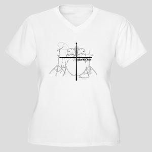Stick With Jesus Women's Plus Size V-Neck T-Shirt