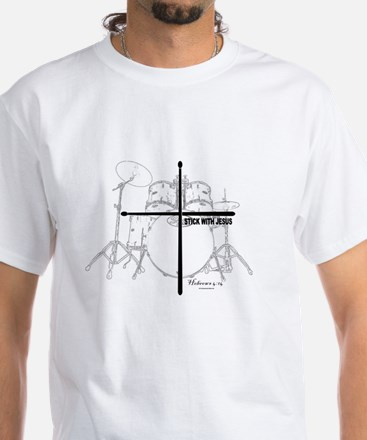 Stick With Jesus White T-Shirt
