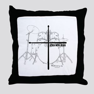 Stick With Jesus Throw Pillow