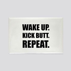 Wake Kick Butt Repeat Magnets