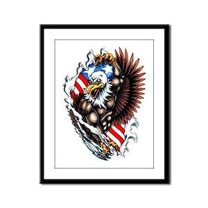 American Patriotic Spirit Tattoo Framed Panel Prin
