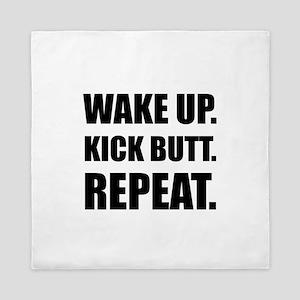 Wake Kick Butt Repeat Queen Duvet