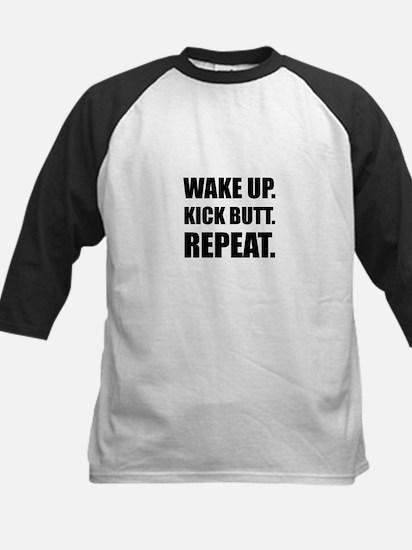 Wake Kick Butt Repeat Baseball Jersey