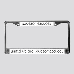 united we are ::awesomesauce:: License Plate Frame