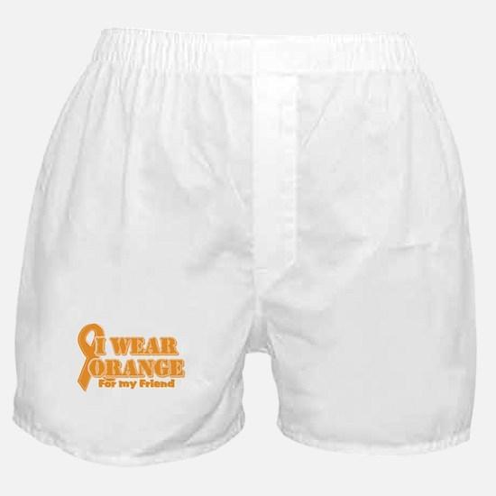 I wear orange friend Boxer Shorts
