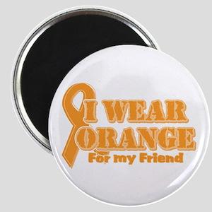 I wear orange friend Magnet