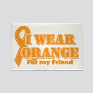 I wear orange friend Rectangle Magnet