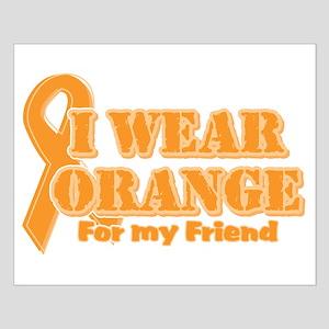I wear orange friend Small Poster