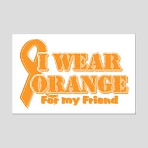 I wear orange friend Mini Poster Print
