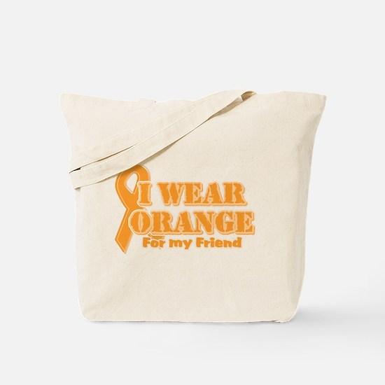 I wear orange friend Tote Bag