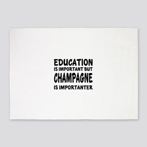 Champagne Is Importanter 5'x7'Area Rug