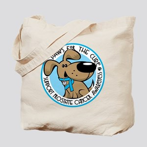 Paws for the Cure: Prostate Cancer Tote Bag
