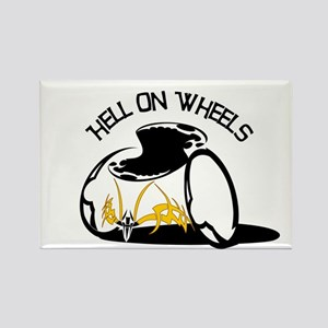 Hell on Wheels! Rectangle Magnet
