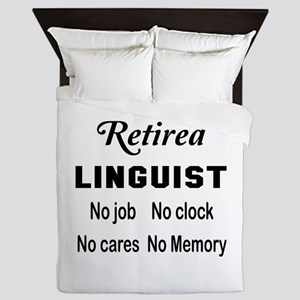 Retired Linguist Queen Duvet