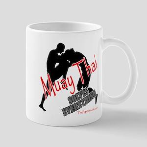 Muay Thai Solves Everything Mug