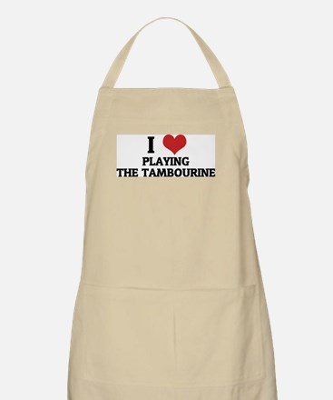 I Love Playing the Tambourine BBQ Apron