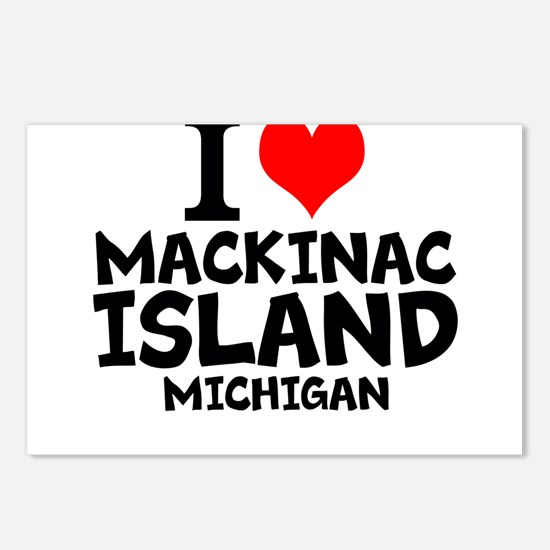 I Love Mackinac Island, Michigan Postcards (Packag
