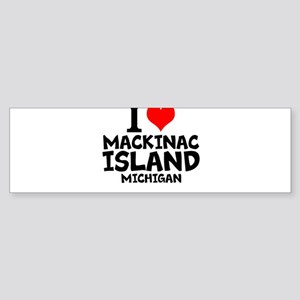 I Love Mackinac Island, Michigan Bumper Sticker