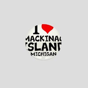 I Love Mackinac Island, Michigan Mini Button